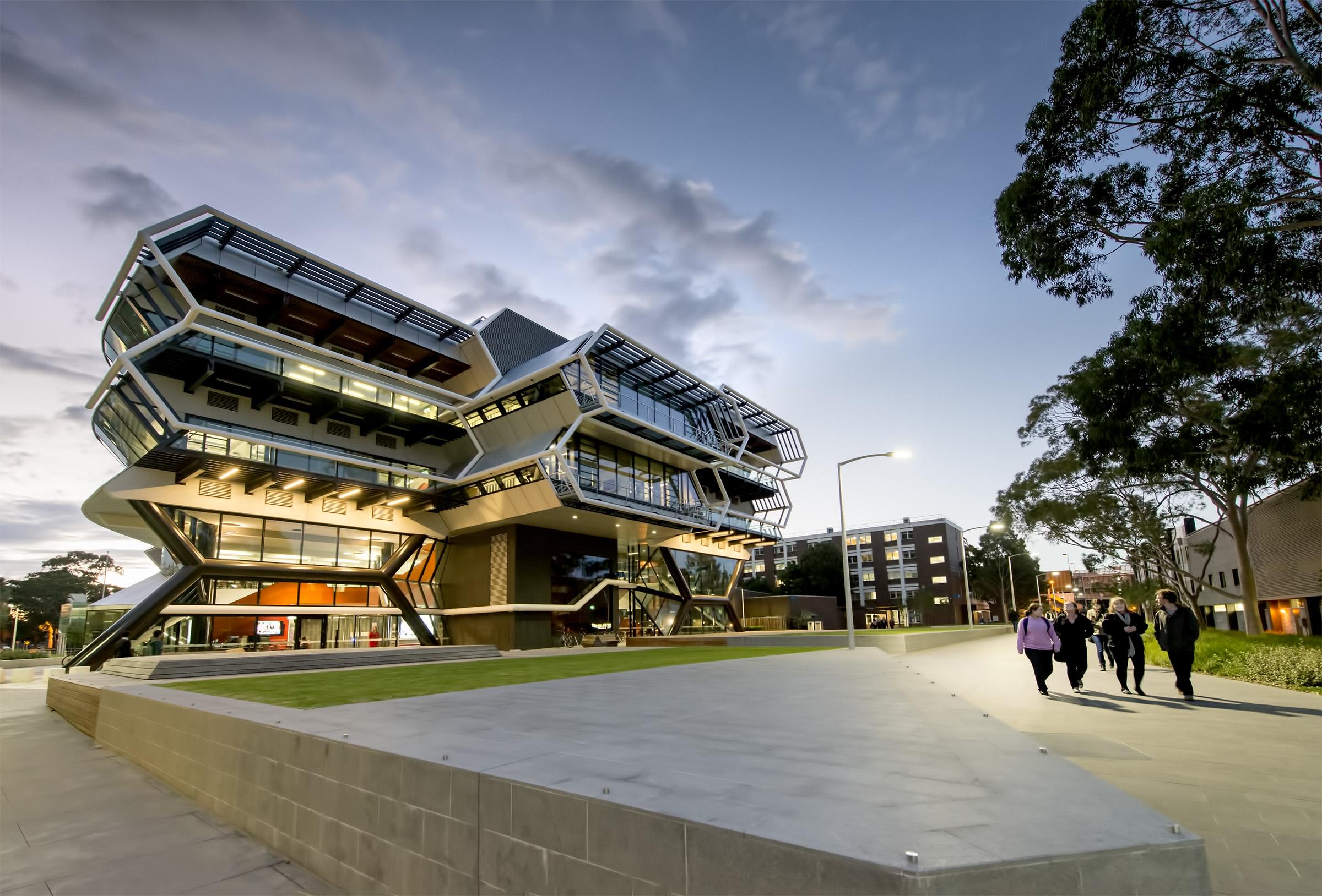 A large building at Monash University.