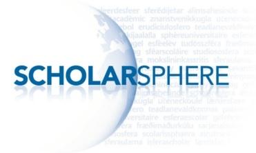 ScholarSphere logo.