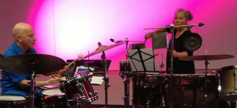Percussionists at the Playing the Archive concert.