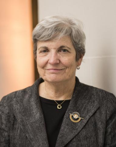 Headshot of Felice Levine with short gray hair, black blouse, and gray jacket.