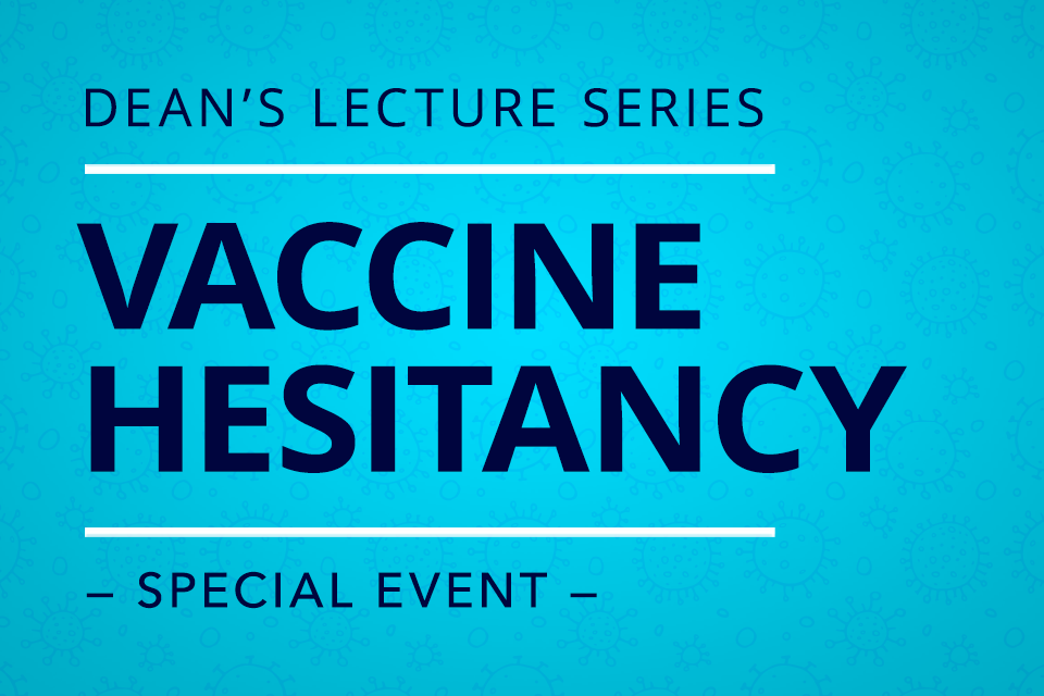 HHD deans lecture series graphic in blue