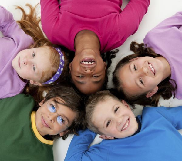 Racially diverse preschool children.