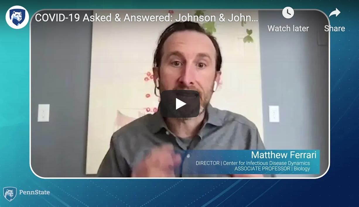 Matt Ferrari on J&J Covid vaccine