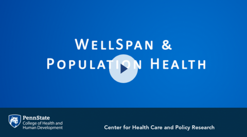 """Screenshot of a video with the words """"WellSpan & Population Health""""."""