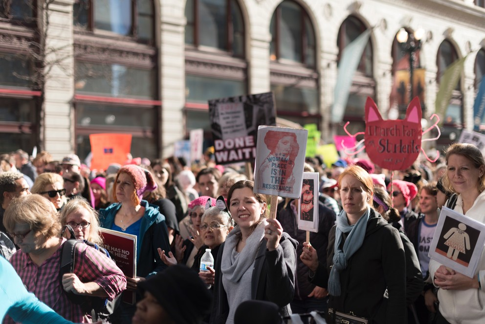 Participants in Women's March