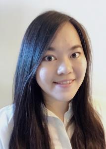 Wang long black hair and white blouse