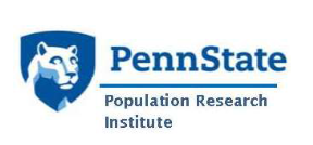 Graphic of the Nittany Lion Shield, with the words: Penn State Population Research Institute.
