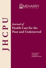 Cover for the Journal of Health Care for the Poor and Underserved.