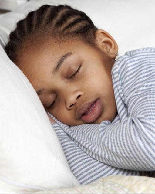 Photo of a sleeping child.