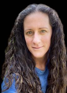 Headshot of Miranda Kaye with long dark hair and blue shirt.