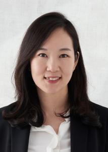 Headshot of Yoon Sun Hur with medium length black hair, black blazer, and white blouse.